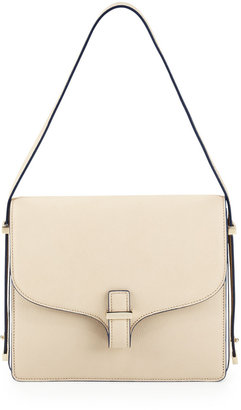 Victoria Beckham Harper Leather Flap Shoulder Bag, Beige