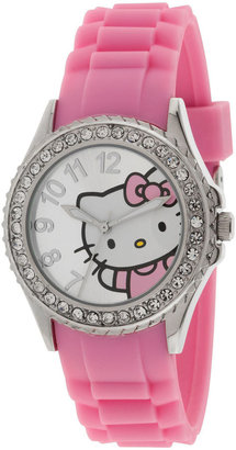 Hello Kitty Crystal-Accent Watch $30 thestylecure.com