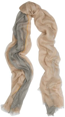 Denis Colomb Feather Toosh Striped Fine-knit Cashmere Scarf