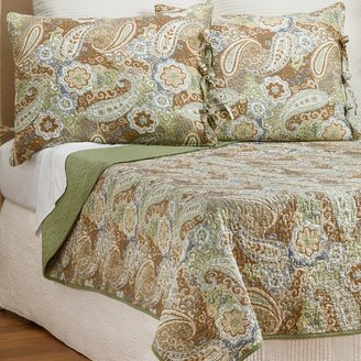 Ivy Hill Home Colonial Floral Paisley Cotton Quilt and Sham Set - King