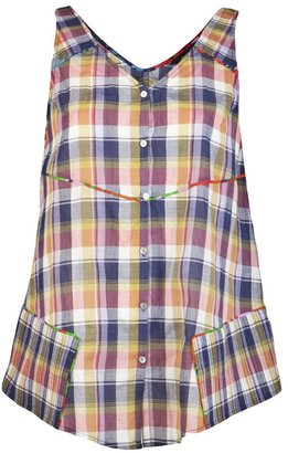 Suno Madras sleeveless shirt