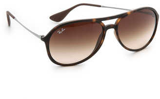 Ray-Ban Youngster Rubber Aviator Sunglasses $130 thestylecure.com