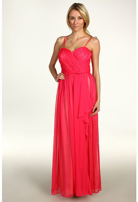Jessica Simpson Strapless Sweetheart Cascade Ruffle Gown