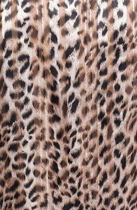 Chaus Split Neck Leopard Print Blouse