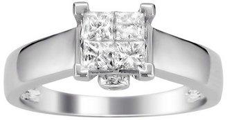 Diamond 5/8 CT. T.W. Princess Cut Composite Set Ring in 14K White Gold (H-I, I1)