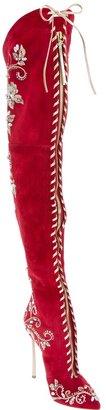 Casadei lace-up stiletto boot