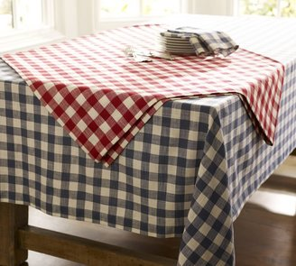 Pottery Barn Gingham Check Tablecloth