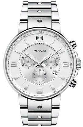 Men's Movado 'S.e. Pilot' Chronograph Bracelet Watch, 42Mm $1,695 thestylecure.com