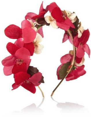 Eugenia Kim Marique velvet and georgette flower crown headband