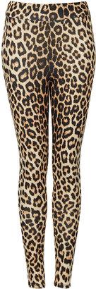 Topshop Leopard Highshine Leggings