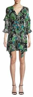 Diane von Furstenberg Floral-Print Silk Mini Dress