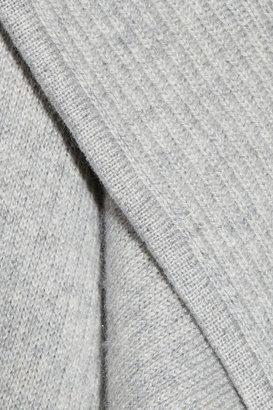 Donna Karan Hooded fine-knit cashmere cardigan