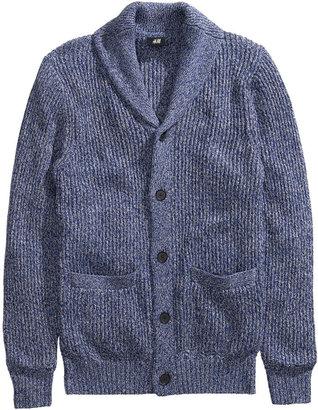 H&M Cotton Cardigan - Blue - Men