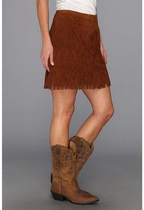 Stetson Mid Length Fringe Suede Skirt