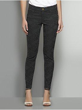 New York & Co. Floral-Embossed Jean Ankle Legging