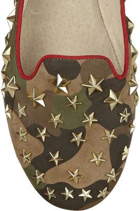Ash Infini star-embellished printed nubuck loafers