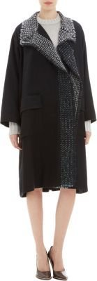 Nina Ricci Tweed Trim Coat
