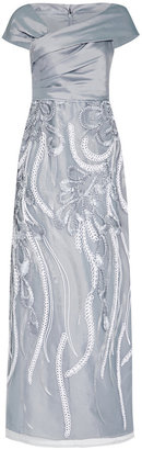 Adrianna Papell Soutache Embroidered Dress