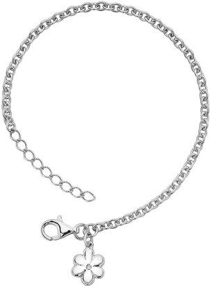 Little Diva Diamonds Sterling Silver Diamond Accent Flower Bracelet - Kids