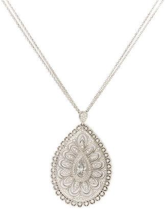 Nadri Crystal Teardrop Pendant Necklace