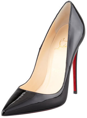 Christian Louboutin So Kate Patent Red Sole Pump, Black $675 thestylecure.com