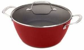 Cuisinart Cast Iron Lite Cookware 3.2 Qt Dutch Oven with Cover in Red