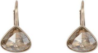 "Anaconda Brown Diamond & White Gold ""Gwyneth"" Earrings"