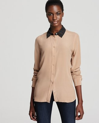 Equipment Blouse - Brett Clean with Contrast Collar