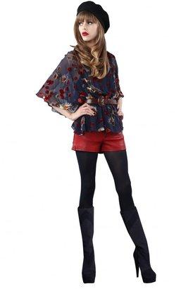 Alice + Olivia Sadie Butterfly Sleeve Blouson Top