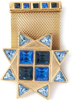 Saint Laurent Vintage military star brooch