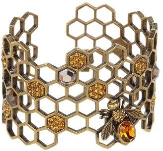 Alexander McQueen Honeycomb Bracelet (Topaz) - Jewelry