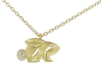 Finn Bunny Necklace - Yellow Gold