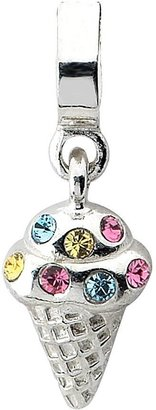 Prerogatives Sterling Multi Simulated Diamond Ice Cream Bead