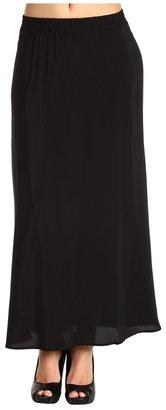 Tucker Floor Length Skirt (Solid Black) - Apparel
