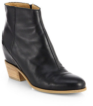 Maison Martin Margiela Leather Hidden Wedge Ankle Boots