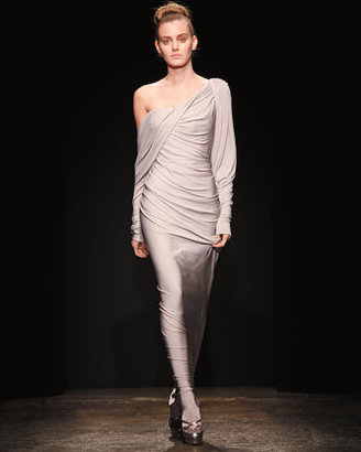 Donna Karan Evening Wrapsody Draped Dress