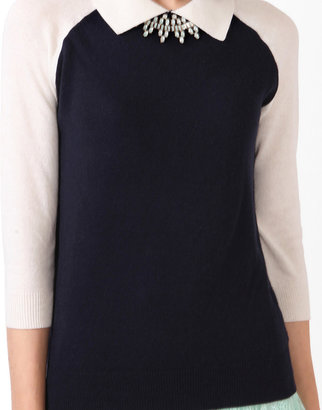 Forever 21 Collared 3/4 Sleeve Sweater