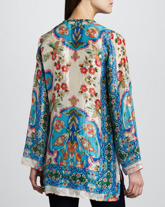 Johnny Was Collection Eden Printed Silk Tunic