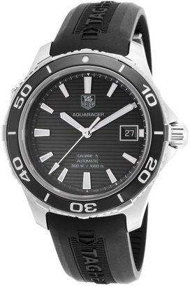 Tag Heuer Men's Automatic Black Textured Dial Black Rubber TAG-WAK2110.FT6027 Watch