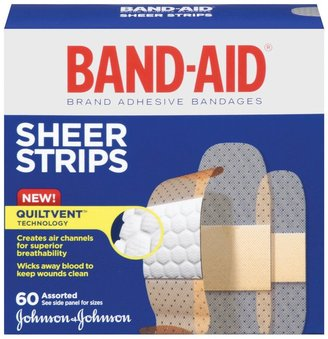 Safety First Band-Aid Comfort-Flex Adhesive Bandages-Sheer-Assorted Sizes-60ct