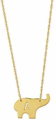"""Moon and Lola Nala Elephant Initial Pendant Necklace, Gold, 16""""L $168 thestylecure.com"""