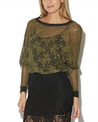 Wet Seal Lace Dolman Top