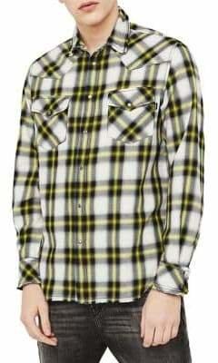 Diesel S-East-Long-G Plaid Shirt