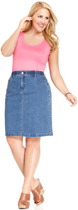 Charter Club Plus Size Denim Skirt