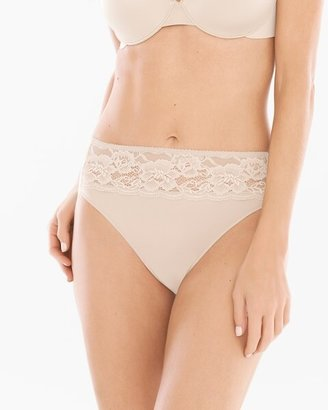 Soma Intimates Microfiber with Lace High Leg Brief