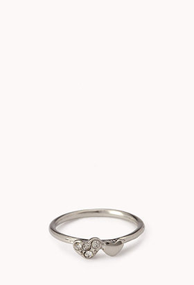Forever 21 Double Heart Midi Ring