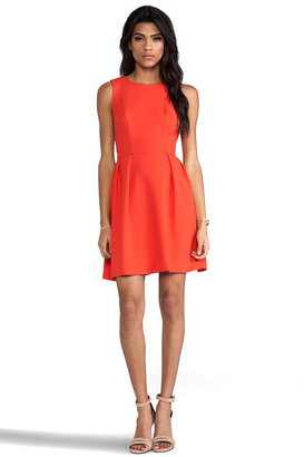 Shoshanna Double Crepe Allie Dress