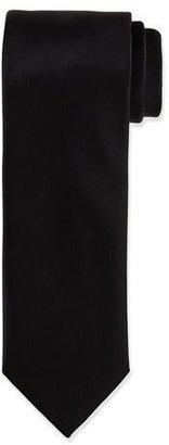 Brioni Solid Silk Satin Tie, Black $230 thestylecure.com
