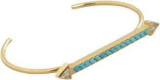 Jennifer Meyer Turquoise & Trillion Diamond Arrow Cuff