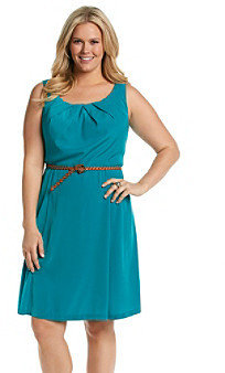 Amy Byer Plus Size Belted Dress